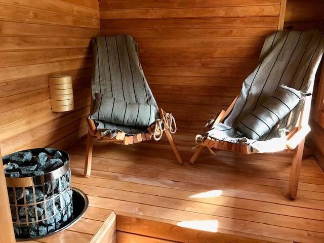 Ylellinen keväällä 2020 remontoitu sauna Rokualla